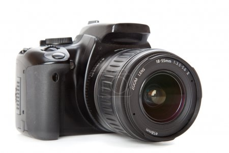 Modern digital camera. Isolated on white backgroun...