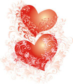 Vector hearts wedding background