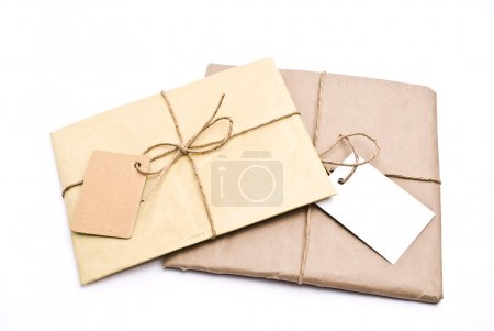 Photo for Two shipping package sent through the mail - Royalty Free Image