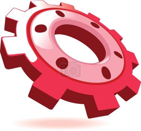 Illustration for Cogwheel. Vector illustration isolated on white background - Royalty Free Image