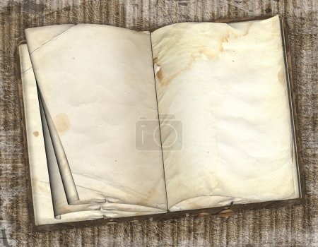 The old book on a abstract grunge backgr