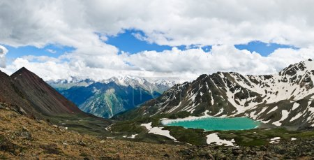 Mountain ice lake panorama