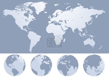 Illustration for World map silhouette vector illustration - Royalty Free Image