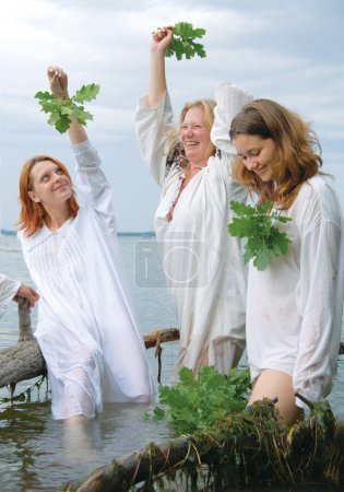 Slav women in the river...
