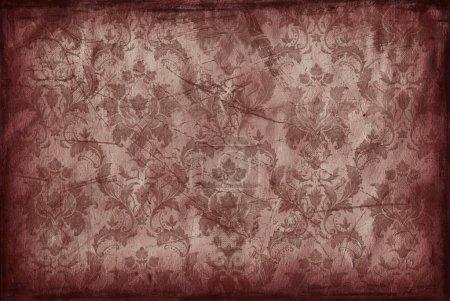 Foto de Fondo vintage de papel pintado rojo vino viejo - Imagen libre de derechos