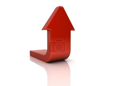 Foto de Ilustración de la flecha de la curva roja (descargar concepto) - Imagen libre de derechos