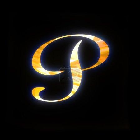 Letra dorada P