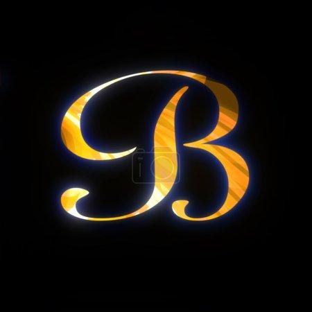 Letra dorada B
