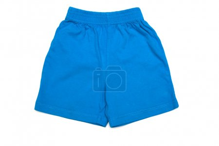 Photo for Photo of baby's blue shorts isolated over white - Royalty Free Image