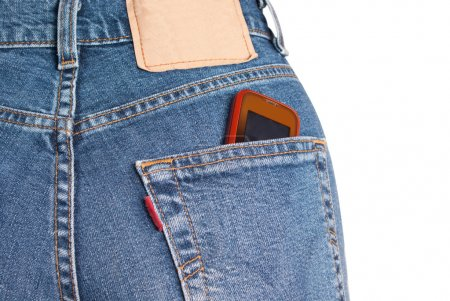 Phone in jeans pocket