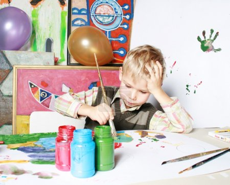 The young artist.