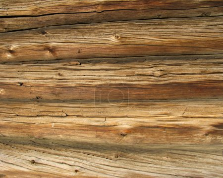 Photo for Logs in the wall of old russian izba - Royalty Free Image