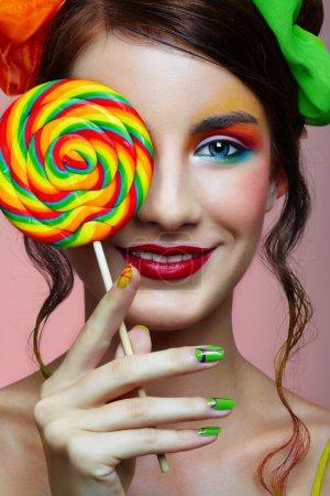 Girl wit lollipop