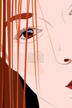 Illustration for Portrait of the redhead young woman close-up - Royalty Free Image