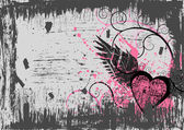 Dirty grunge heart abstract background