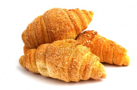 Photo for Croissant with a stuffing on a white background - Royalty Free Image