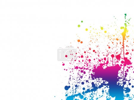 Paint splashes spectrum background