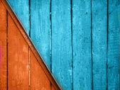 Vintage red and blue planks background
