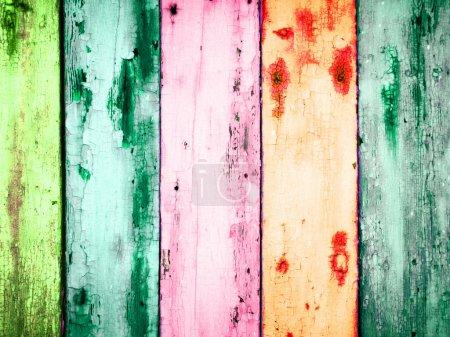 Photo pour Planches de bois colorés - image libre de droit