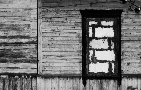 Black and white vintage wooden wall with