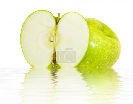 Beautiful juicy green apple