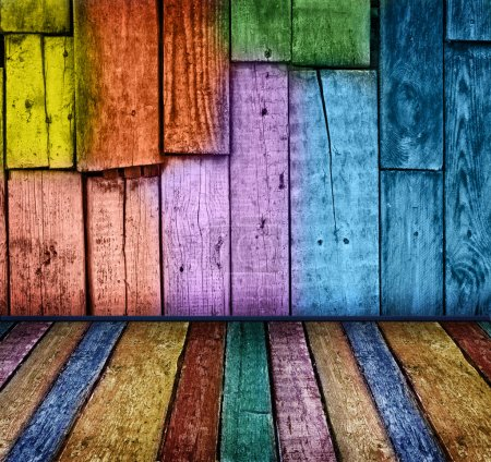 Colorful vintage wooden background