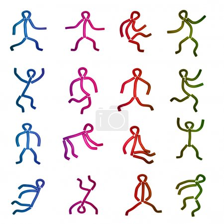 Dancing human figures