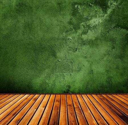 Grunge green interior