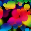 Colorful multicolored bubbles abstract background