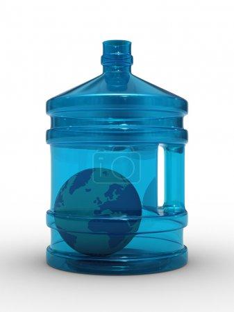 Photo pour Globe en bouteille sur fond blanc. Image 3D isolée - image libre de droit