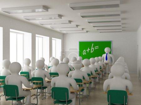 Photo pour Intérieur d'une classe d'école. Image 3D . - image libre de droit