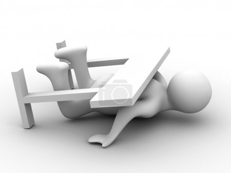 Photo for Not broken barrier. Isolated 3D image. - Royalty Free Image