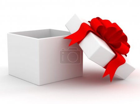 Photo for White gift box. 3D image. - Royalty Free Image
