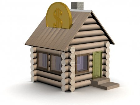 Wooden small house a coin box