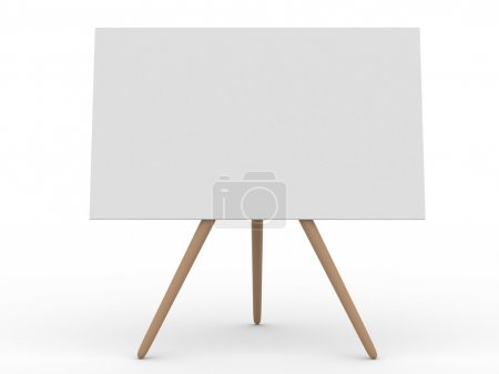 Empty board on white. Isolated 3d image...