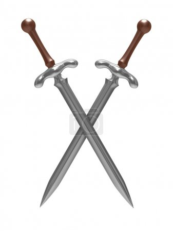Two sword on white background