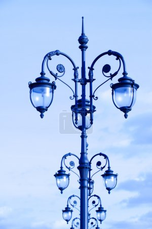Street lamps in the art deco style