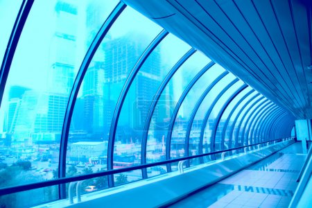 Geometric corridor of modern building