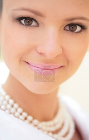 Closeup portrait young girl