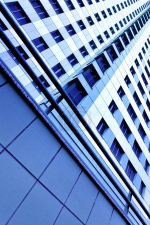 Photo pour Mur d'immeuble d'habitation de grande hauteur modernes - image libre de droit