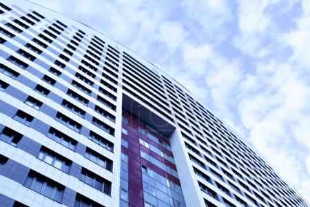 Photo pour Mur de l'immeuble moderne se bouchent - image libre de droit