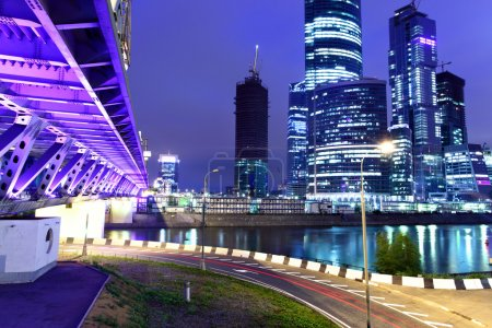 Photo for Modern skyscrapers at night. Moscow City. Russia. - Royalty Free Image