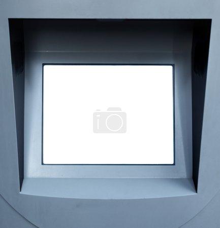 Photo pour Écran d'information blanc vierge, mettez votre propre texte ici - image libre de droit