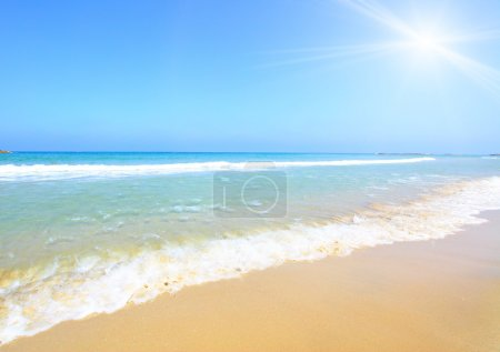 Photo for Beach and sun, may be used as background - Royalty Free Image