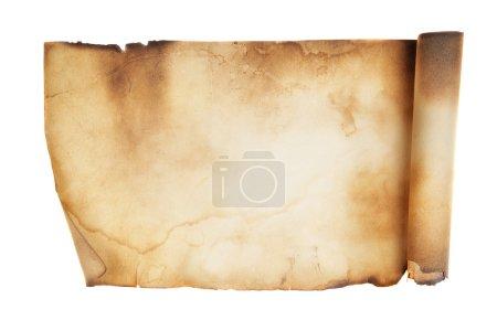 Foto de Antiguo manuscrito aislado sobre un fondo blanco - Imagen libre de derechos