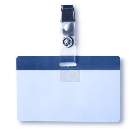 Photo pour Insigne vierge gros plan isolé sur fond blanc - image libre de droit