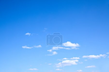 Photo for Blue sky and clouds, may be used as background - Royalty Free Image
