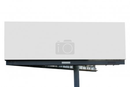 Photo for Blank billboard isolated over white background - Royalty Free Image