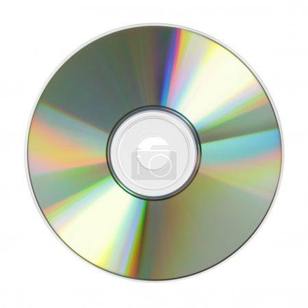 Photo pour CD gros plan isolé sur fond blanc - image libre de droit