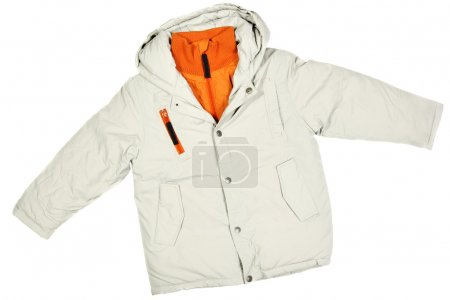 Photo for Children's wear - winter jacket isolated over white background - Royalty Free Image